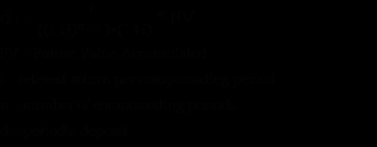 Time Value Formulas